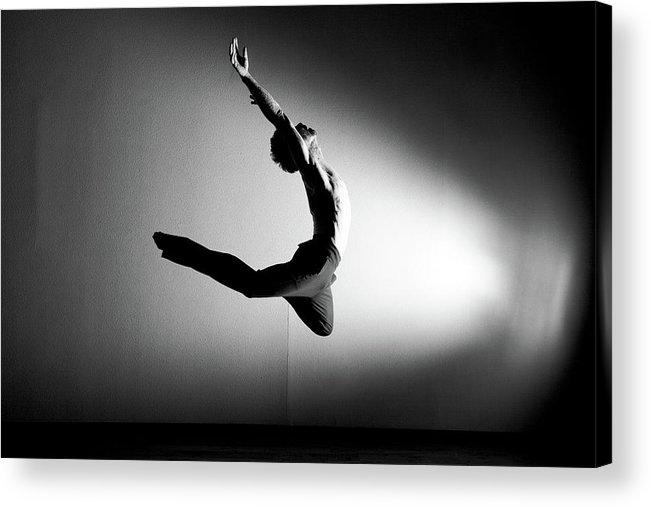 Ballet Dancer Acrylic Print featuring the photograph Human Flight by Amygdala imagery