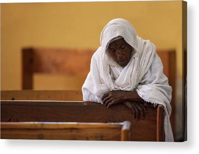Maryamtsyon Acrylic Print featuring the photograph In Prayer by