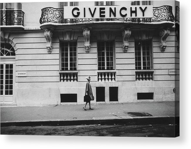 Exterior Acrylic Print featuring the photograph Isabel O'donnell In Front Of Givenchy by Knight Russell