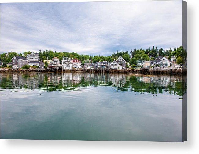 Town Acrylic Print featuring the photograph Island Village by Edwin Remsberg