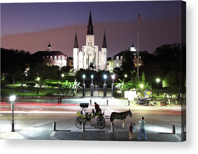 Southern Usa Acrylic Print featuring the photograph Jackson Square by Denistangneyjr