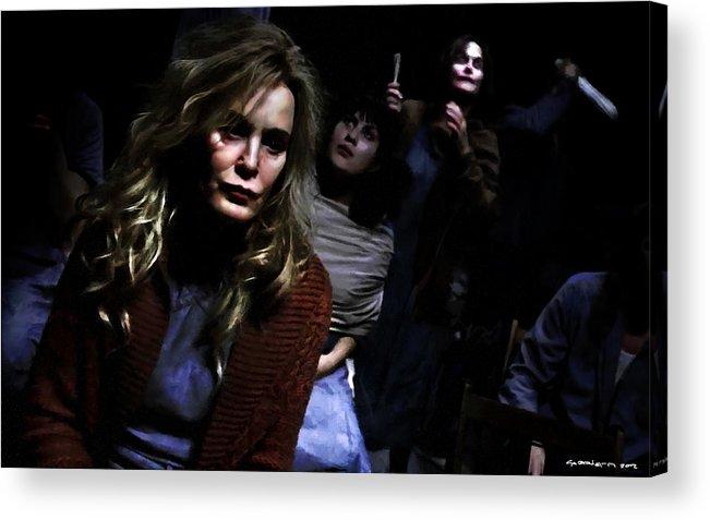 American Horror Story: Asylum Acrylic Print featuring the digital art Jessica Lange as Sister Jude @ TV serie American Horror Story Asylum by Gabriel T Toro