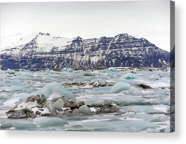 Tranquility Acrylic Print featuring the photograph Jokulsarlon by Photo By Dave Moore