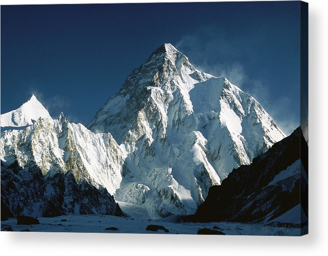 00260216 Acrylic Print featuring the photograph K2 At Dawn by Colin Monteath