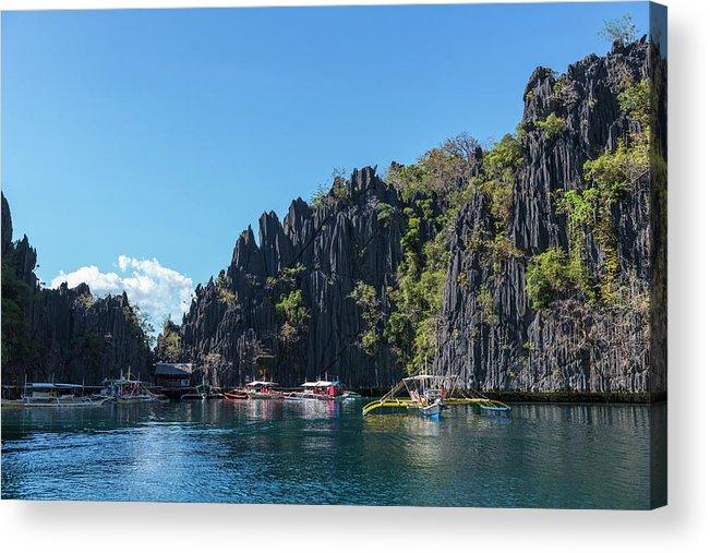 Outdoors Acrylic Print featuring the photograph Lagoon, Coron, Palawan, Phillippines by John Harper