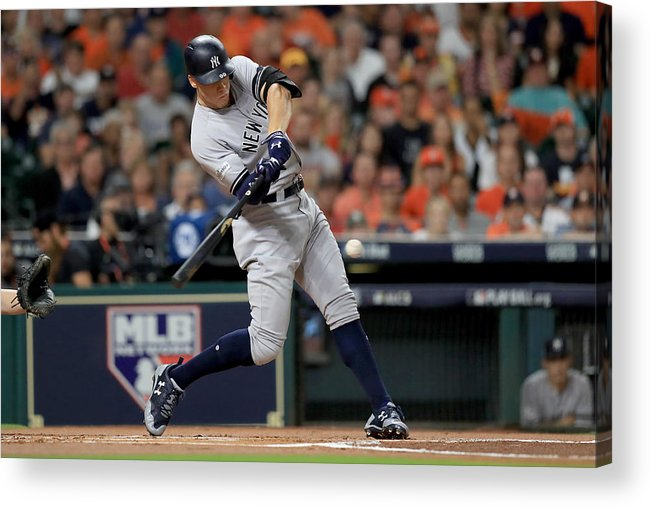 Championship Acrylic Print featuring the photograph League Championship Series - New York Yankees v Houston Astros - Game Seven by Ronald Martinez