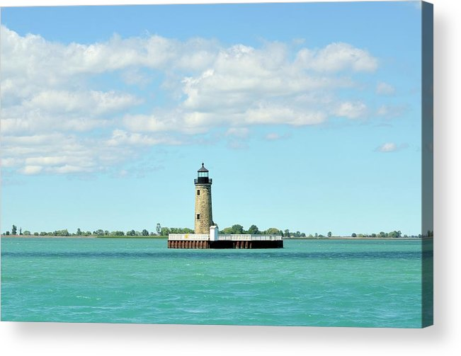Scenics Acrylic Print featuring the photograph Lighthouse Lake St. Clair by Rivernorthphotography