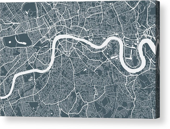 Art Acrylic Print featuring the digital art London City Map by Mattjeacock
