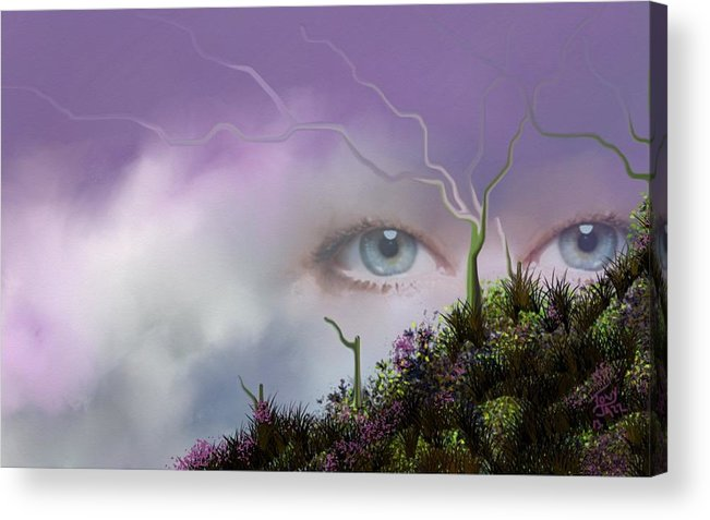 Look Of Love Acrylic Print featuring the digital art Look of Love by Tony Rodriguez