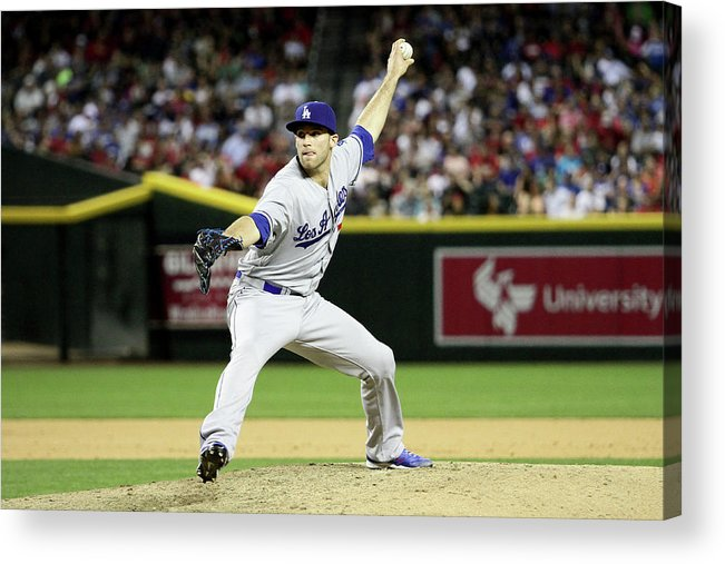 American League Baseball Acrylic Print featuring the photograph Los Angeles Dodgers V Arizona by Jason Wise