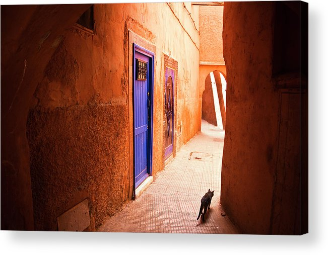 Arch Acrylic Print featuring the photograph Medina Of Marrakesh by Moreiso
