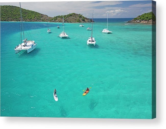 Scenics Acrylic Print featuring the photograph Men Doing Water Activities by Karl Weatherly