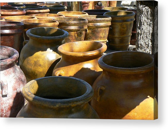 Pots Acrylic Print featuring the photograph Mexican Pots IV by Scott Alcorn