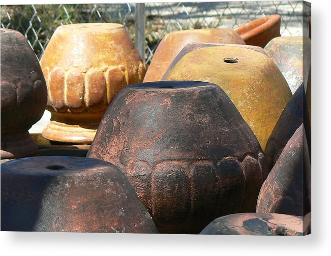 Pots Acrylic Print featuring the photograph Mexican Pots VI by Scott Alcorn