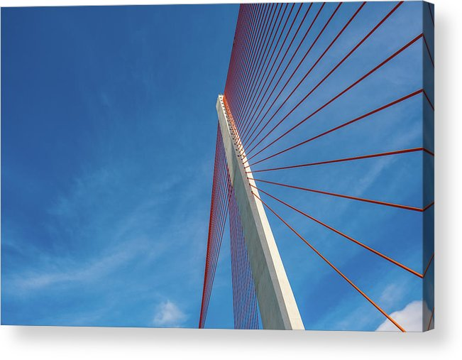 Hanging Acrylic Print featuring the photograph Modern Suspension Bridge by Phung Huynh Vu Qui