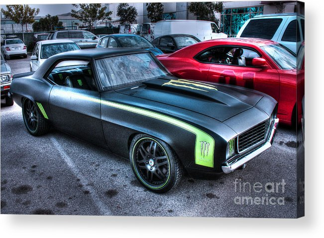1969 Chevy Camaro Acrylic Print featuring the photograph Monster Camaro by Tommy Anderson