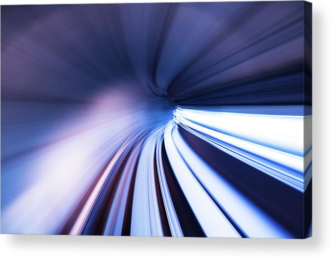 Curve Acrylic Print featuring the photograph Motion Tunnel by Loveguli