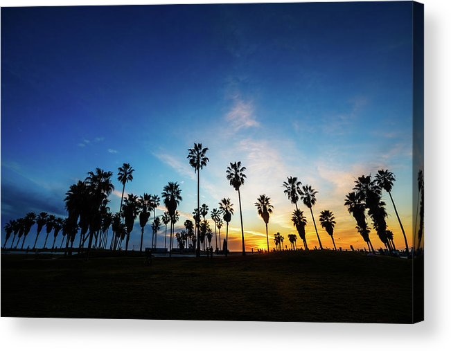 Shadow Acrylic Print featuring the photograph Muscle Beach At Dusk by Extreme-photographer
