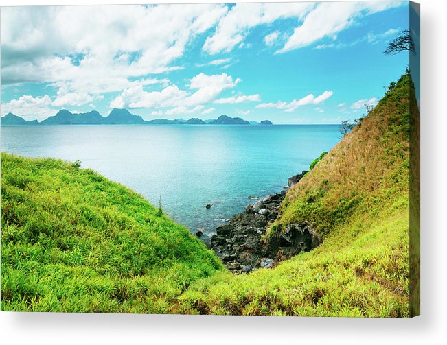 Scenics Acrylic Print featuring the photograph Nacpan Beach Hills by Danilovi