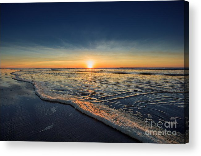 Sunset Photography Print Acrylic Print featuring the photograph Navy Sunset by Lucid Mood