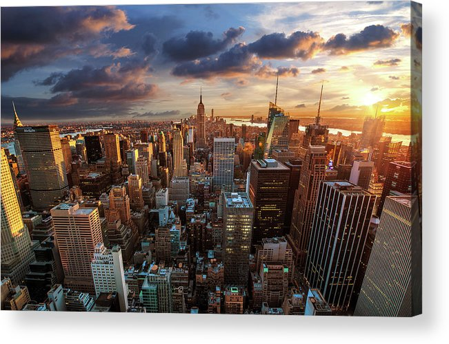 Tranquility Acrylic Print featuring the photograph New York City Skyline by Dominic Kamp Photography