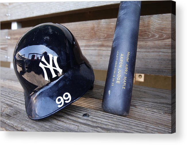 Headwear Acrylic Print featuring the photograph New York Yankees v Baltimore Orioles by Mike McGinnis