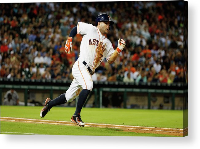 People Acrylic Print featuring the photograph New York Yankees V Houston Astros by Scott Halleran
