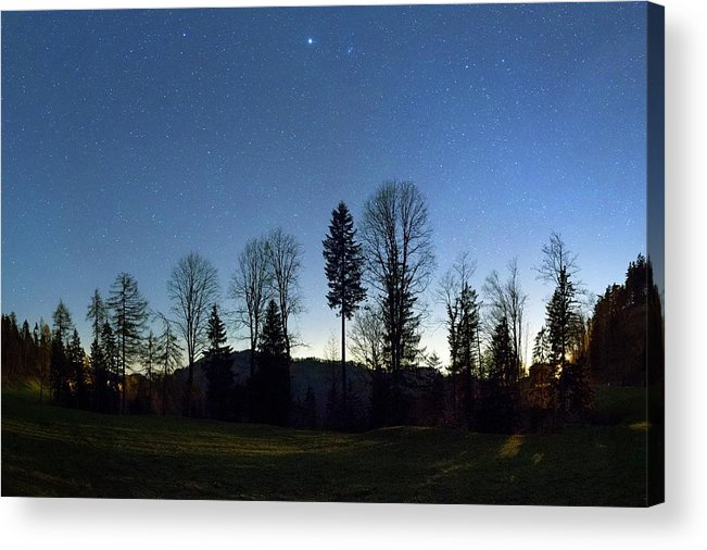 Beehive Acrylic Print featuring the photograph Night Panorama With Stars by Dr Juerg Alean