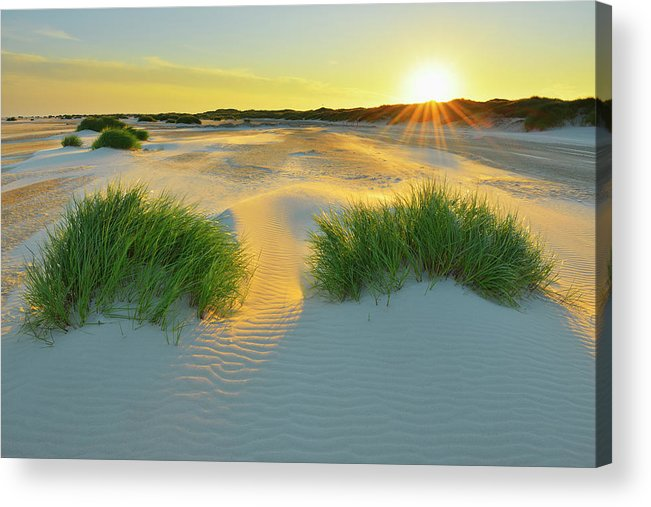 Scenics Acrylic Print featuring the photograph North Sea Sandbank Kniepsand by Raimund Linke