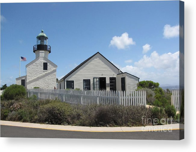 Lighthouse Acrylic Print featuring the photograph Old Point Loma Lighthouse 1 by Cedric Hampton