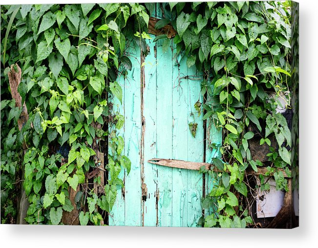 Outdoors Acrylic Print featuring the photograph Old Wooden Door by Real444