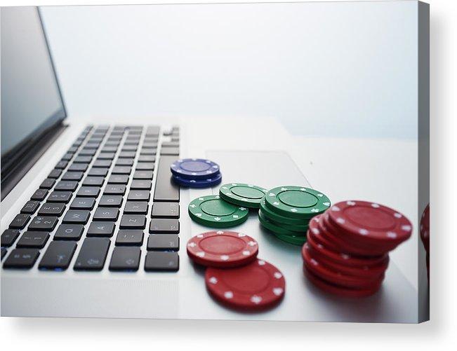 Internet Acrylic Print featuring the photograph Online Gambling by John Lamb
