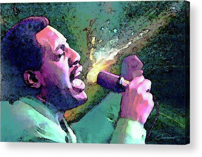 Otis Redding Acrylic Print featuring the painting Otis Redding by John Travisano