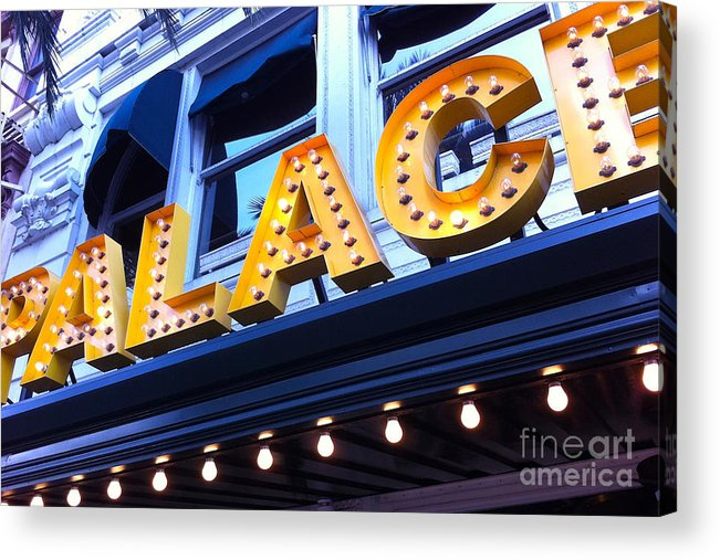 Palace Cafe Acrylic Print featuring the photograph Palace Cafe by Kim Fearheiley