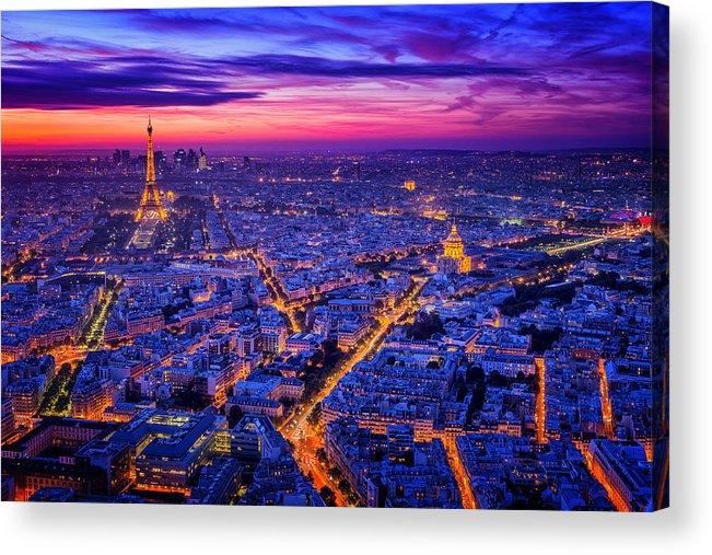 Night Acrylic Print featuring the photograph Paris I by Juan Pablo De