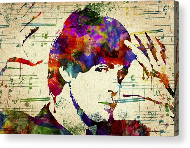 Paul Mccartney Acrylic Print featuring the digital art Paul McCartney by Aged Pixel