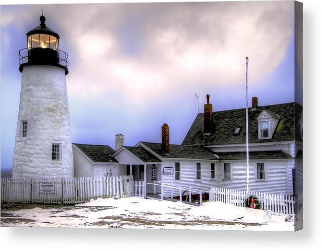 Bristol Acrylic Print featuring the photograph Pemaquid Point Lighthouse by Brenda Giasson