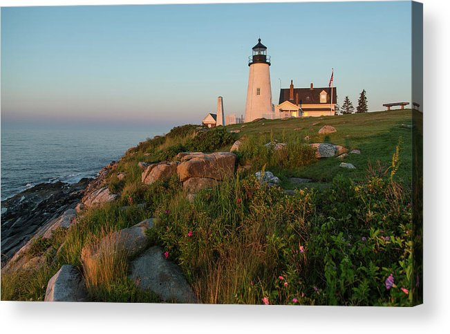 Tranquility Acrylic Print featuring the photograph Pemaquid Point Maine Lighthouse by Dave Mention Photography