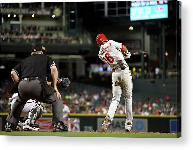 American League Baseball Acrylic Print featuring the photograph Philadelphia Phillies V Arizona by Chris Coduto