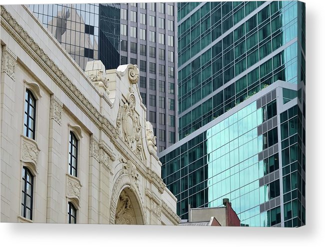 Downtown District Acrylic Print featuring the photograph Pittsburgh Architecture by Rivernorthphotography