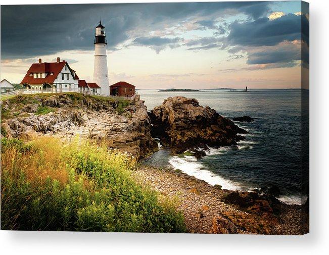 Safety Acrylic Print featuring the photograph Portland Head Light - Cape Elizabeth by Doug Van Kampen, Van Kampen Photography