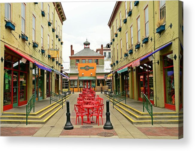 Cincinnati Acrylic Print featuring the photograph Quiet Day at Findlay Market by David Earl Johnson
