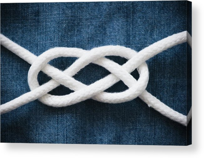 Security Acrylic Print featuring the photograph Reef Knot by Jamie Grill