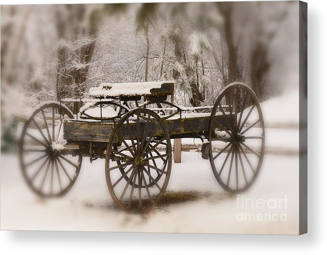 Wagon Acrylic Print featuring the photograph Relic of a Time Gone By by Dennis Hammer