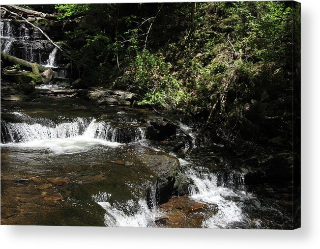 Waterfall Acrylic Print featuring the photograph Restful by Dervent Wiltshire