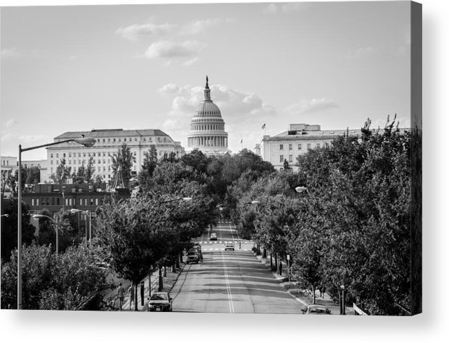 Washington D.c. Acrylic Print featuring the photograph Road to the Capital by Ryan Routt