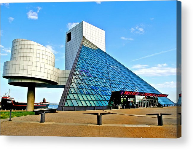 Rock Acrylic Print featuring the photograph Rock n Roll Hall of Fame by Frozen in Time Fine Art Photography