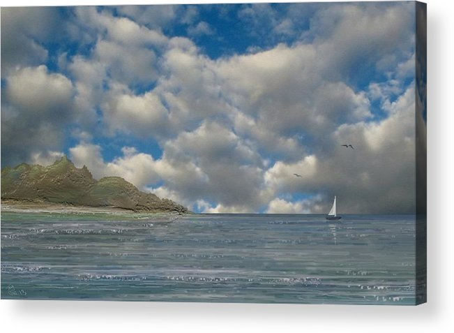 Sail Away Acrylic Print featuring the digital art Sail Away by Tony Rodriguez