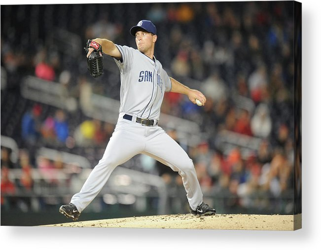 Baseball Pitcher Acrylic Print featuring the photograph San Diego Padres V. Washington Nationals by Mitchell Layton