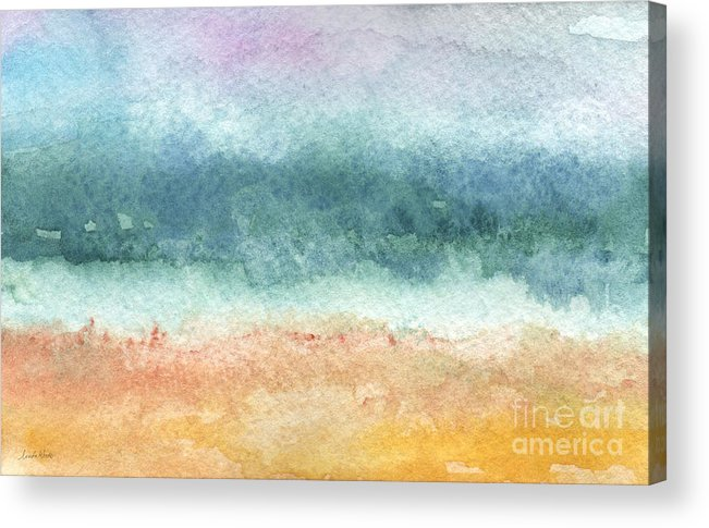 Abstract Acrylic Print featuring the painting Sand and Sea by Linda Woods